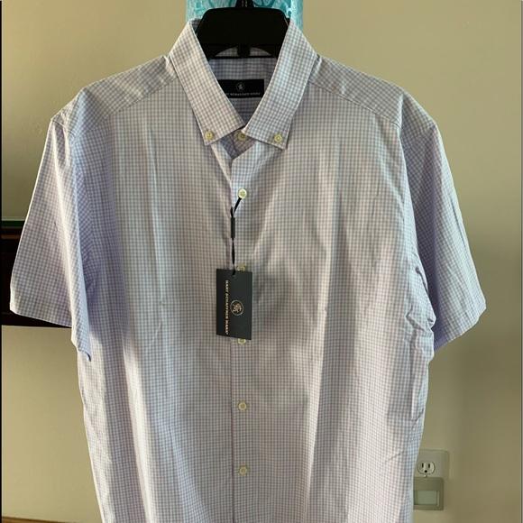 Hart Schaffner Marx Short Sleeve Button Down Shirt Men's Size Medium